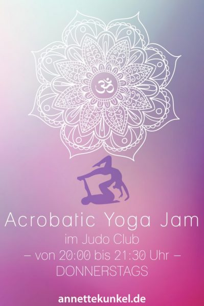 Acrobatic Yoga Jam in Bad Säckingen ab 10 Euro - direkt am Rhein - coole Acrobatic Yoga Jam Stunde.