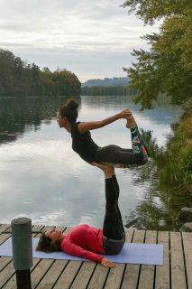 Acrobatic Yoga Bow Pose in 79713 Bad Säckingen