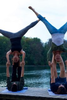 Acrobatic Yoga Double Star Pose in 79713 Bad Säckingen