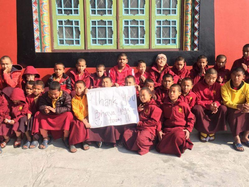 Die Kids des Klosters bedanken für die Spende